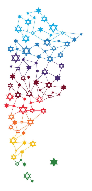 Mapa de las Comunidades Judías de Argentina v2
